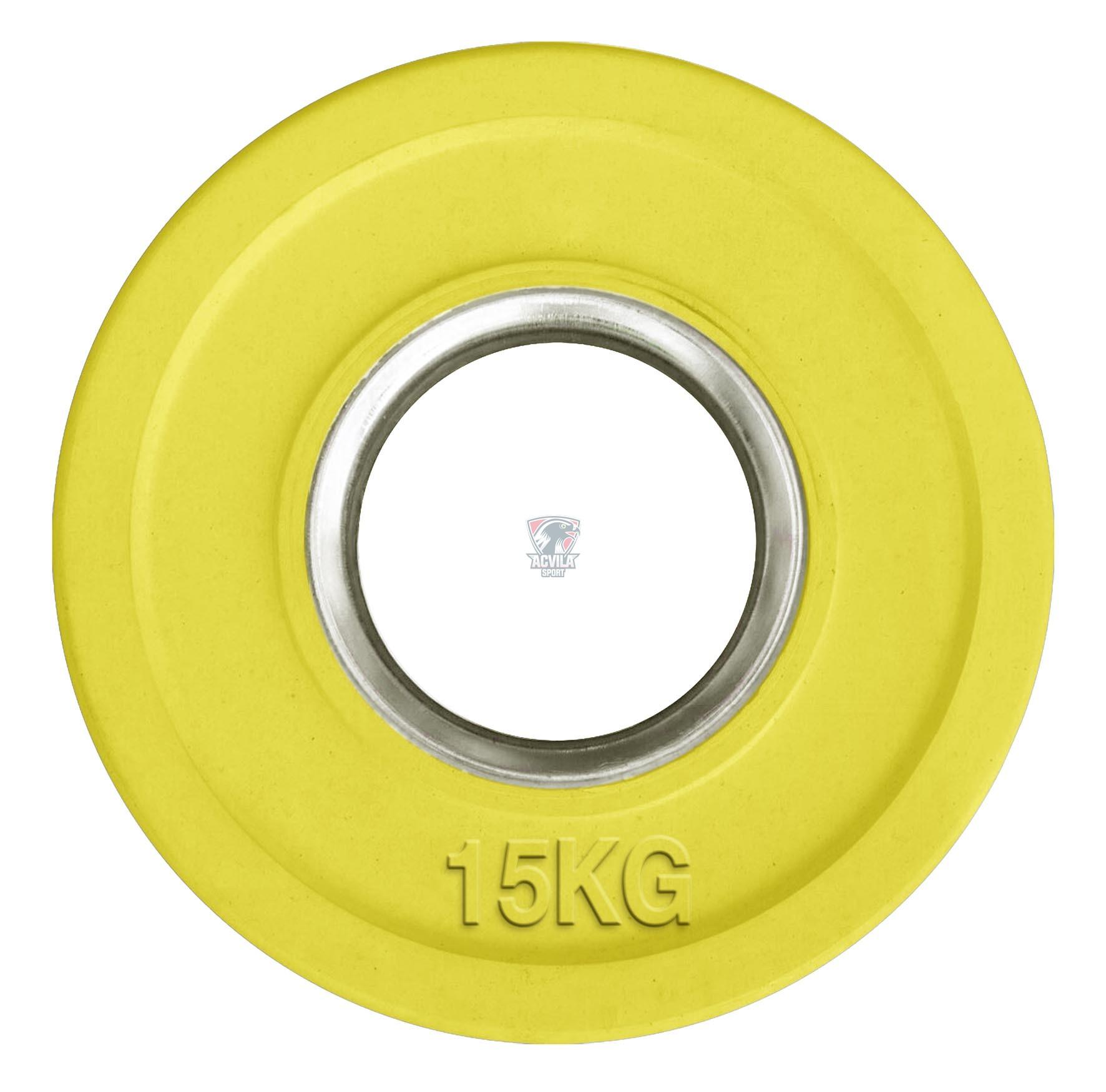 photo Greutate haltere/cauciucata color 15 kg