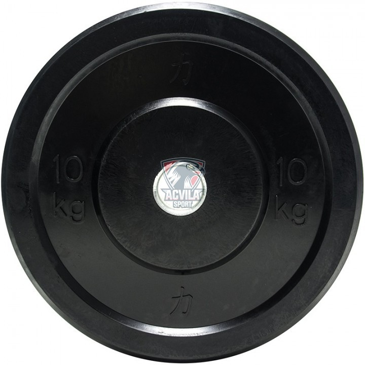 Greutate Haltere OP Cauciucat/Negru 10 kg