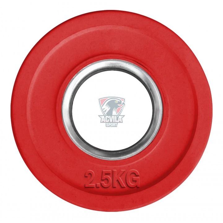 photo Диск для штанги резиновый бамперный 2,5 кг Д50