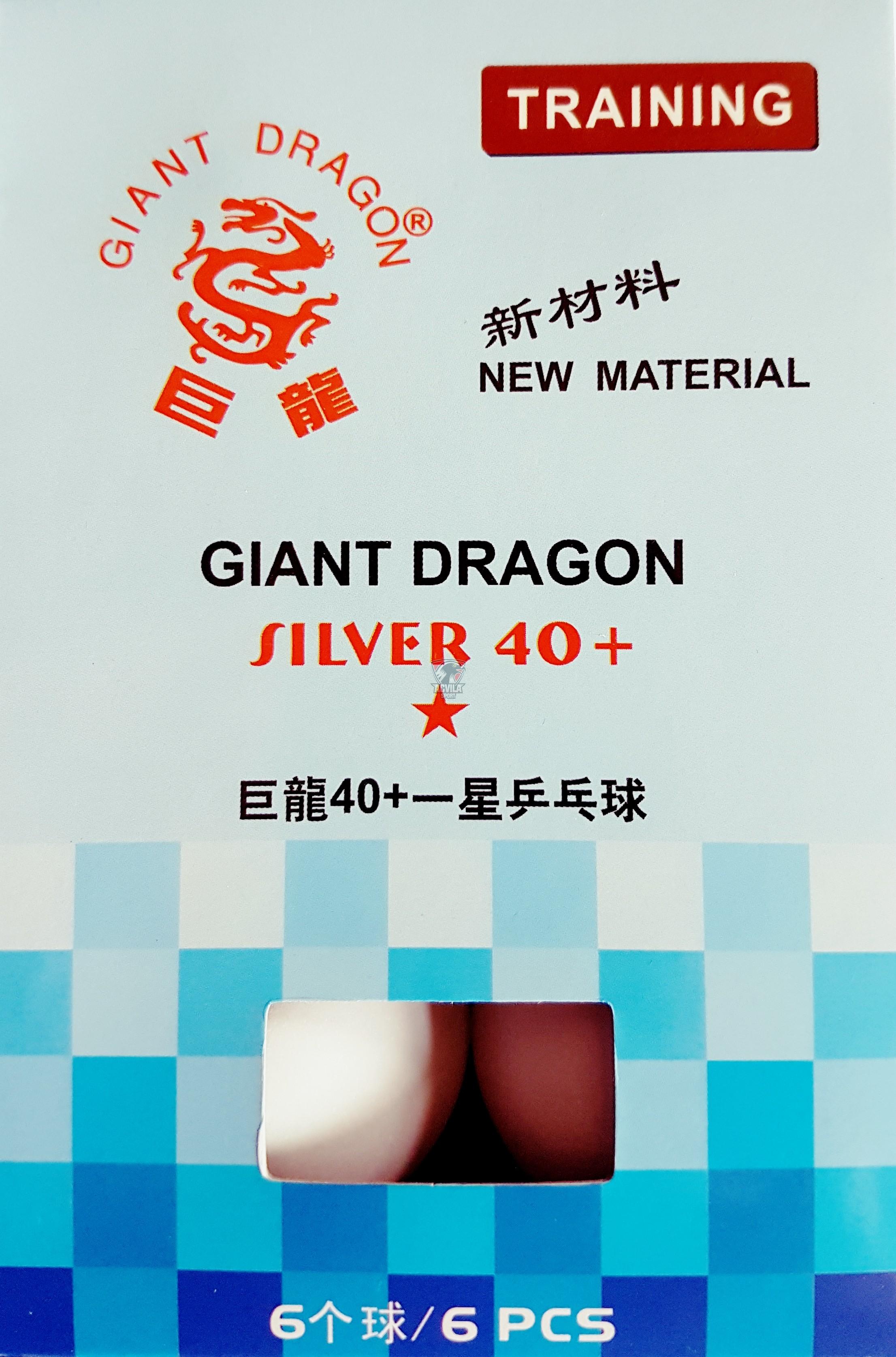 photo 0 Minge tenis masă Giant Dragon Silver 40+ 1 stea